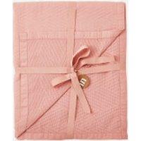 in homeware Chevron Matelasse Throw Blanket - Blush