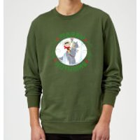 Star Wars Merry Hothmas Christmas Sweatshirt - Forest Green - M - Forest Green