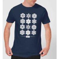 Star Wars Snowflake Men`s Christmas T-Shirt