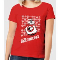 Star Wars Let The Good Times Roll Women's Christmas T-Shirt - Red - XS - Red