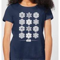 Star Wars Snowflake Women`s Christmas T-Shirt
