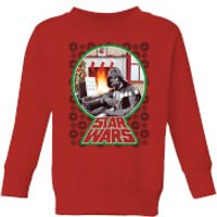 Star Wars A Very Merry Sithmas Kids Christmas Sweatshirt - Red - 9-10 Years - Red