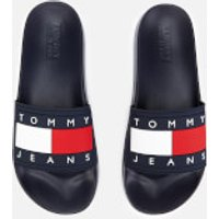 Tommy Jeans Men's Flag Pool Slide Sandals - Midnight - UK 10 - Blue