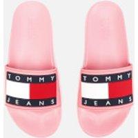 Tommy Jeans Women's Flag Pool Slide Sandals - Geranium Pink - UK 6 - Pink