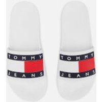 Tommy Jeans Women's Flag Pool Slide Sandals - White - UK 3.5 - White