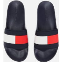 Tommy Hilfiger Men's Essential Flag Pool Slide Sandals - Red/White/Blue - UK 8 - Blue