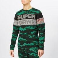 Superdry Sport Men's Gym Tech Cut Crew Neck Sweatshirt - Forest Camo - M - Forest Camo