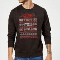 Nintendo NES Pattern Christmas Sweatshirt - Black - 5XL - Black