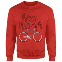 Bike Lights Christmas Sweatshirt - Red - S - Red