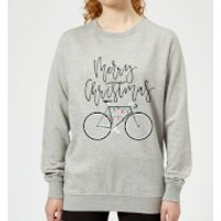 Bike Lights Women's Christmas Sweatshirt - Grey - M - Grey