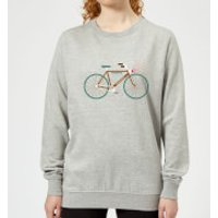 Rudolph Bike Women's Christmas Sweatshirt - Grey - XS - Grey