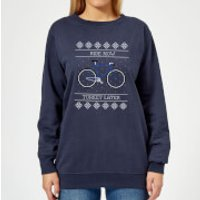 Ride Now, Turkey Later Women's Christmas Sweatshirt - Navy - L - Navy