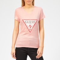Guess Women's Icon T-Shirt - Pink Palm Tree - M - Pink