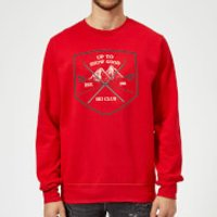 Up To Snow Good Christmas Sweatshirt - Red - XXL - Red