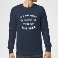 It's The Most Wonderful Time Of The Year Christmas Sweatshirt - Navy - M - Navy
