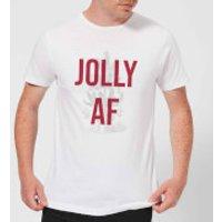 Jolly AF Men's Christmas T-Shirt - White - XL - White