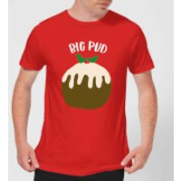 Big Pud Men's Christmas T-Shirt - Red - M - Red