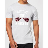 Get This Girl A Mince Pie Men's Christmas T-Shirt - Grey - XL - Grey