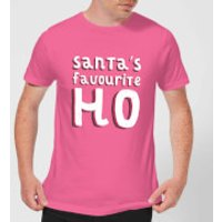 Santa's Favourite Ho Men's Christmas T-Shirt - Pink - S - Pink