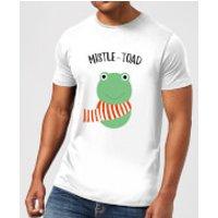 Mistle-Toad Men's Christmas T-Shirt - White - 5XL - White