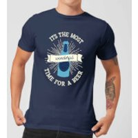 It's The Most Wonderful Time for A Beer Men's Christmas T-Shirt - Navy - XL - Navy