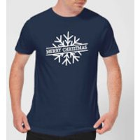 Merry Christmas Men's Christmas T-Shirt - Navy - M - Navy