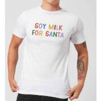 Soy Milk for Santa Men's Christmas T-Shirt - White - XL - White