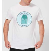 Soy To The World Men's Christmas T-Shirt - White - XL - White