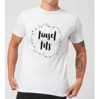 Tinsel T**s Men's Christmas T-Shirt - White - 5XL - White