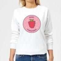 Berry Christmas Women's Christmas Sweatshirt - White - L - Weiß