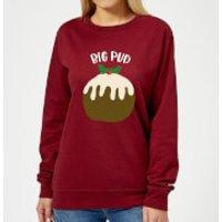 Big Pud Women's Christmas Sweatshirt - Burgundy - XS - Burgunderrot