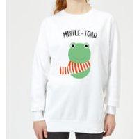 Mistle-Toad Women's Christmas Sweatshirt - White - XS - Weiß