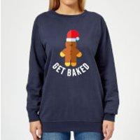 Get Baked Women's Christmas Sweatshirt - Navy - M - Navy