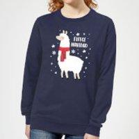 Fleece Navidad Women's Christmas Sweatshirt - Navy - L - Navy