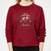 Up To Snow Good Women's Christmas Sweatshirt - Burgundy - XXL - Burgundy