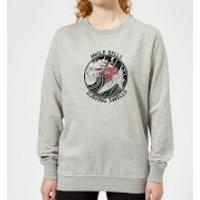 Jungle Bells, Surfing Swells Women's Christmas Sweatshirt - Grey - XS - Grey