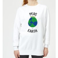 Peas On Earth Women's Christmas Sweatshirt - White - M - White
