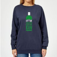 Let The Christmas Fun Be Gin Women's Christmas Sweatshirt - Navy - XL - Navy
