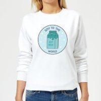 Soy To The World Women's Christmas Sweatshirt - White - 3XL - White