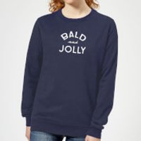 Bald and Jolly Women's Christmas Sweatshirt - Navy - L - Navy