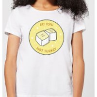 Eat Tofu Not Turkey Women's Christmas T-Shirt - White - 3XL - White
