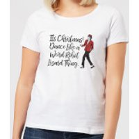 Its Christmas, Dance Like A Weird Robot Women's Christmas T-Shirt - White - 3XL - White