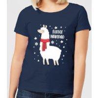 Fleece Navidad Women's Christmas T-Shirt - Navy - XXL - Navy