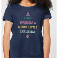 Have Yourself A Merry Little Christmas Women's Christmas T-Shirt - Navy - XS - Navy