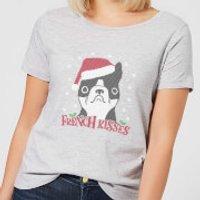 French Kisses Women's Christmas T-Shirt - Grey - XXL - Grey