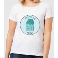 Soy To The World Women's Christmas T-Shirt - White - 3XL - White
