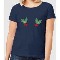 Holly Women's Christmas T-Shirt - Navy - XXL - Navy