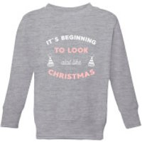 It's Beginning To Look A Lot Like Christmas Kids' Christmas Sweatshirt - Grey - 3-4 Years - Grey
