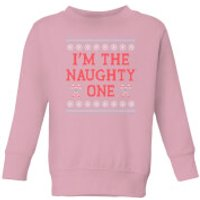 I'm The Naughty One Kids' Christmas Sweatshirt - Baby Pink - 3-4 Years - Baby Pink