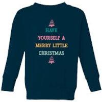 Image of Have Yourself A Merry Little Christmas Kids' Christmas Sweatshirt - Navy - 11-12 Years - Navy